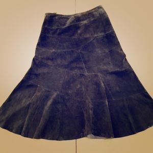 Charter Club Petite Suede Tulip Skirt